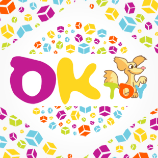 Логотип магазина игрушек «OKtoy»